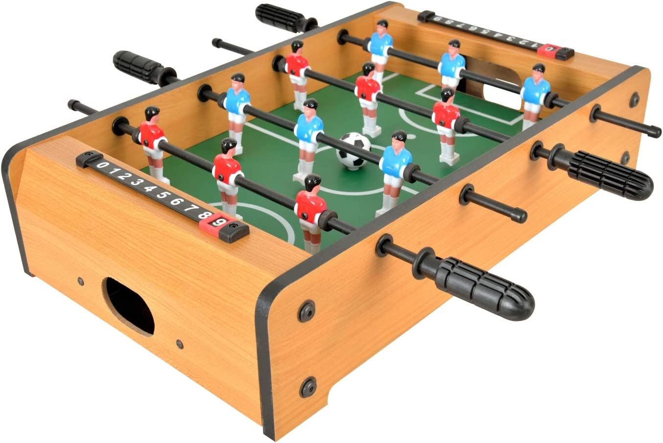 WIN.MAX Mini Foosball Table, 20-Inch Table Top Football/Soccer Game Table for Kids, Easy to Store