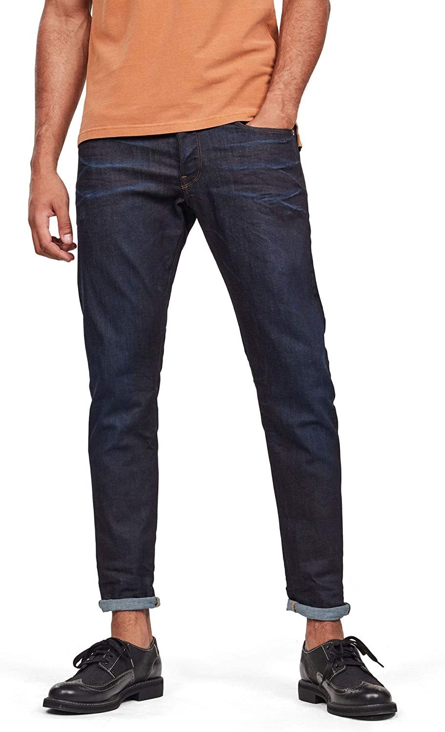 great prices new collection wholesale online G-Star Raw Men's 3301 Tapered Fit Pant in Visor Stretch Denim Dk Aged