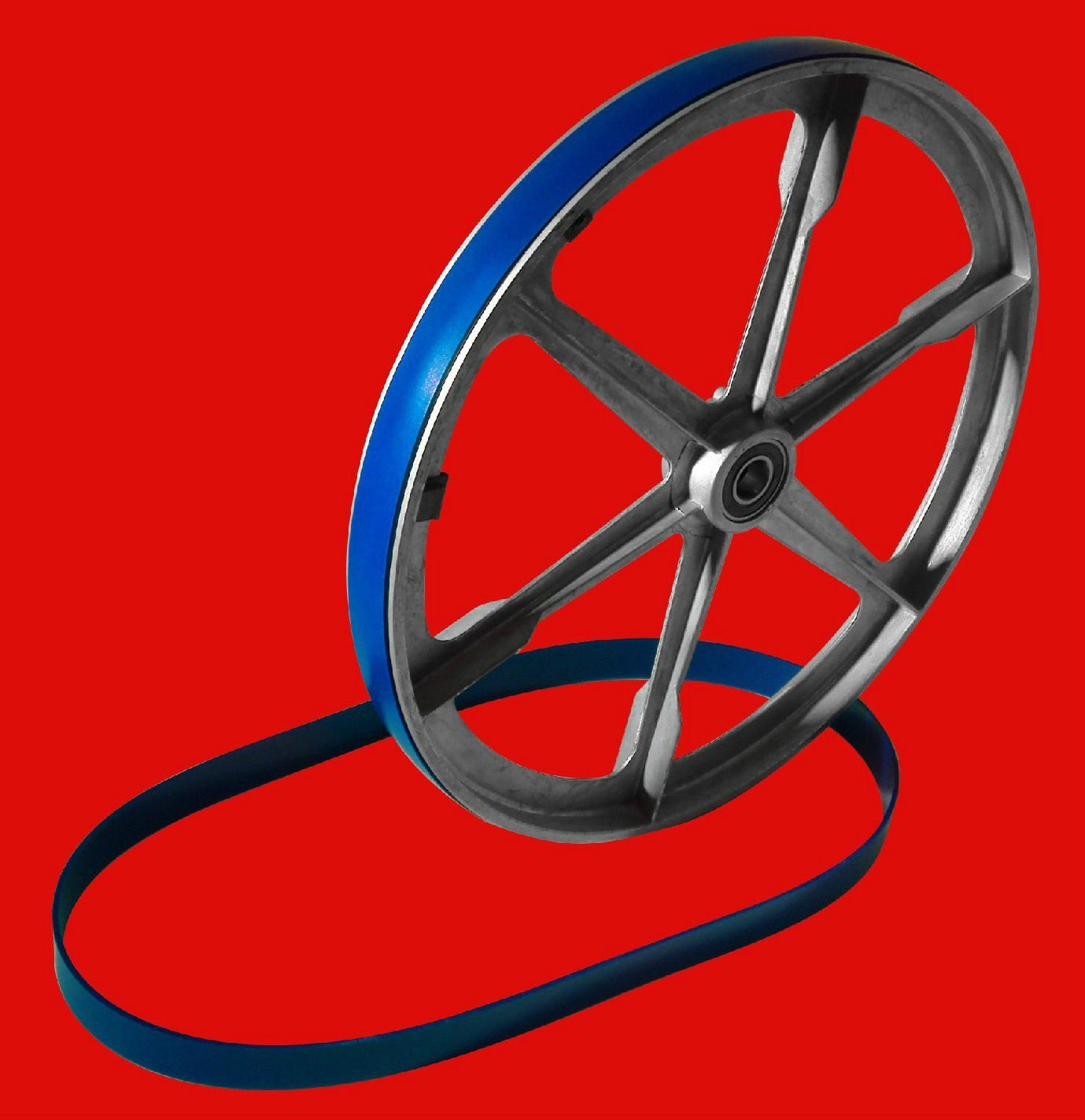 New Heavy Duty Band Saw Urethane 2 Blue Max Tire Set ULTRA 24'' X 1 1/2'' .125 THICK