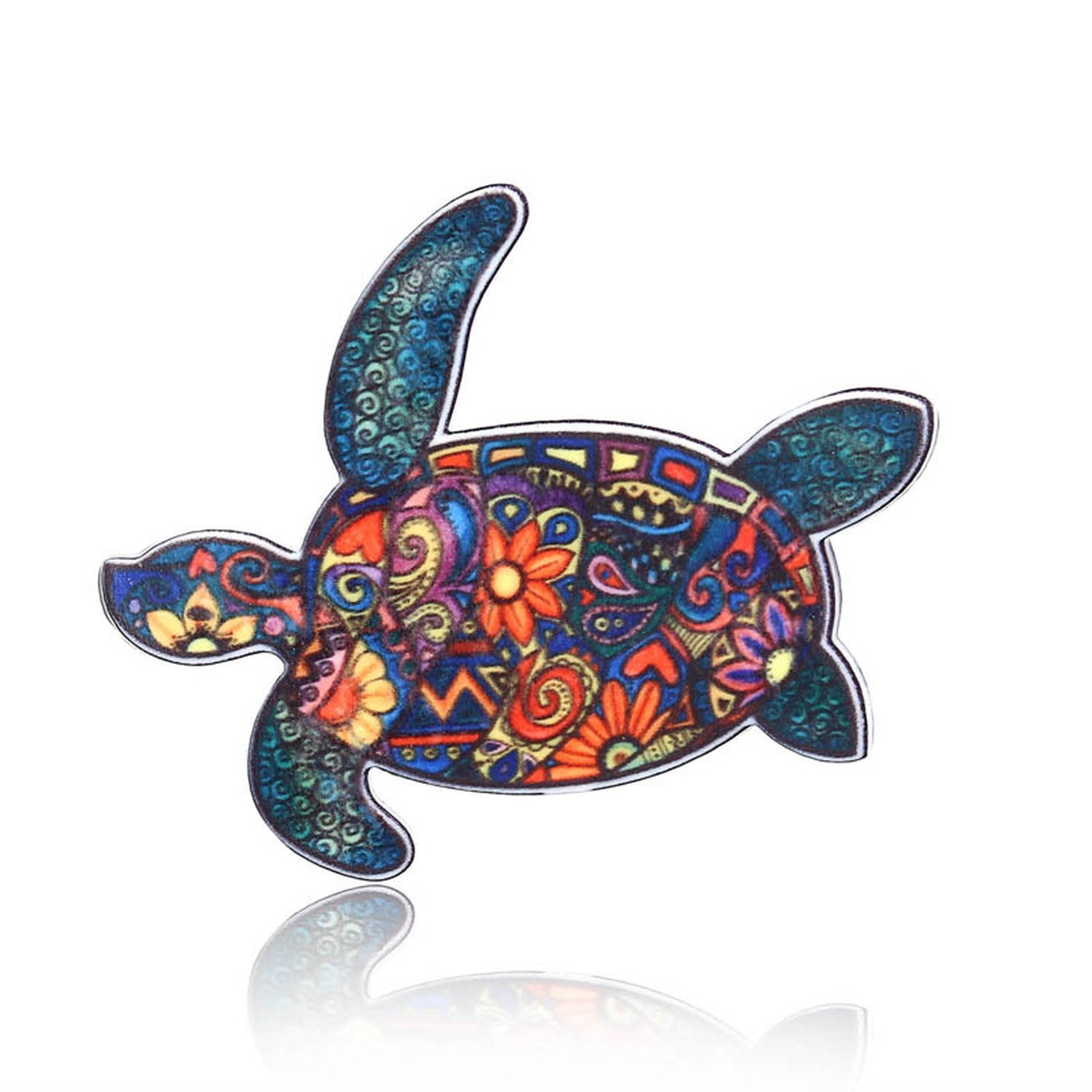 Animal Elephant Cat Brooch Dog Horse Bird Brooch Pin Badges Dress Coat Jewelry,Tortoise