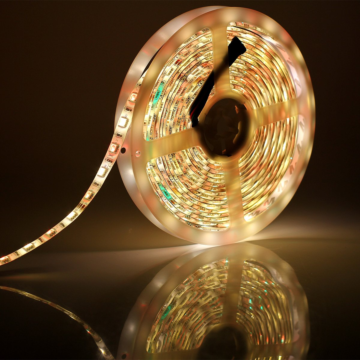 SUPERNIGHT RGBW LED Strip Light RGB Color Changing Rope Lighting with Warm White 3500K Color 16.4ft 300leds 5050 Tape Light (RGB + Warm White) by SUPERNIGHT (Image #6)
