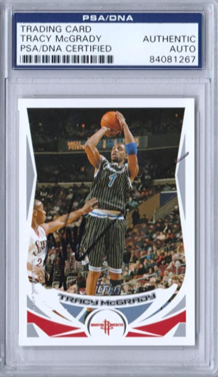Tracy McGrady Signed Card Authenticated Slabbed SB17 - PSA DNA Certified -  Basketball Slabbed Vintage fd2f4eada