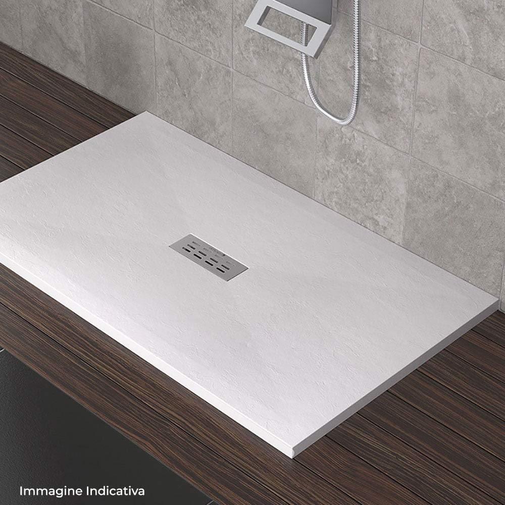 Receveur de douche en pierre Maier Eden Blanc Diff/érentes tailles 80x90 cm