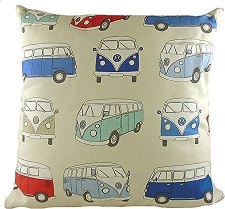/Bleu/ VW Camper Van/ /Coussin Imprim/é 43/cm lc761