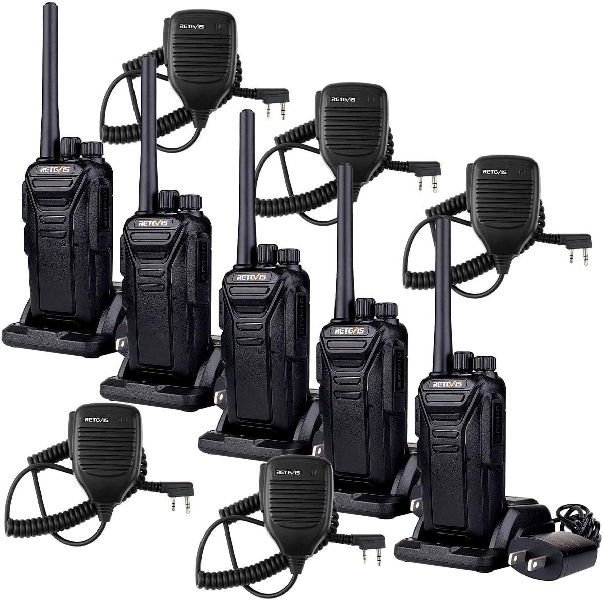 Retevis RT27 Walkie Talkies with Speaker Mic 22 CH Hands Free Well Built Long Range Rechargeable 2 Way Radios 5 Pack