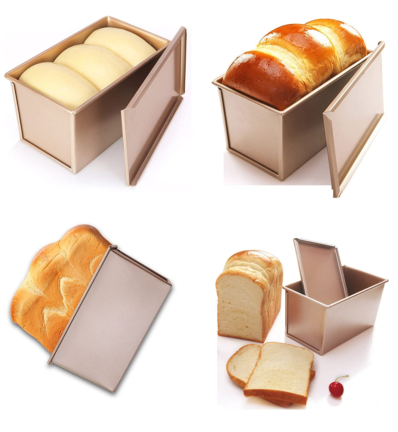 BREAD LOAF TIN PAN BOX 1200g PULLMAN SANDWICH LOAF WITH LID HOME BAKING FRESH BREAD ALUMINIUM NEW FROM CFU UK