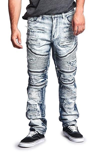 Amazon.com: G-Style USA pantalones vaqueros delgados ...