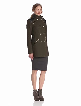 Amazon.com: Vince Camuto Women's Military Double Breasted Wool ...