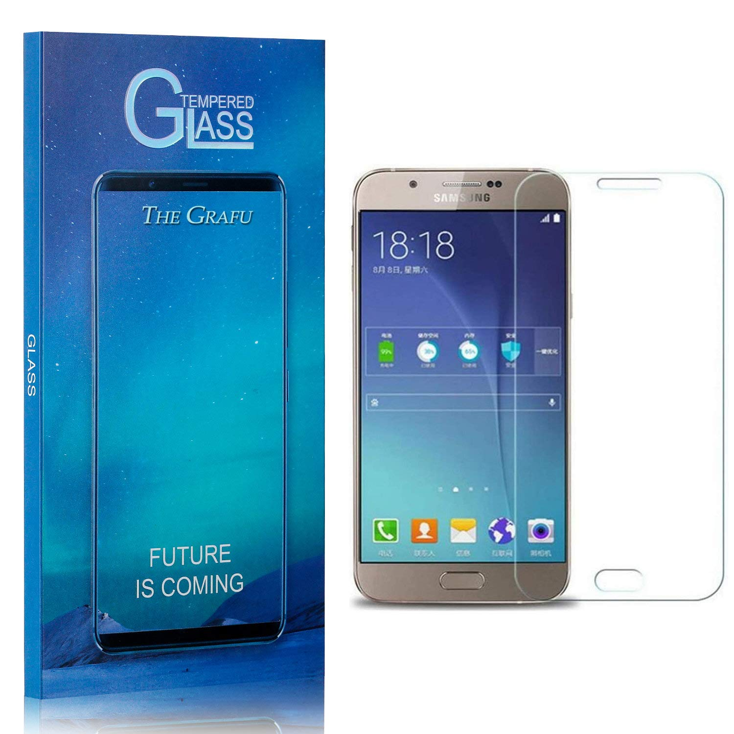 A9 Star Mobile Screen Protective Film 25 PCS 9H 5D Full Glue Full Screen Tempered Glass Film for Galaxy A8 Star yf