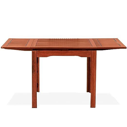 Tavolo Quadrato Allungabile Da Esterno.Tavolo Quadrato Allungabile In Legno Naturale 80x80x77 Mod Palma
