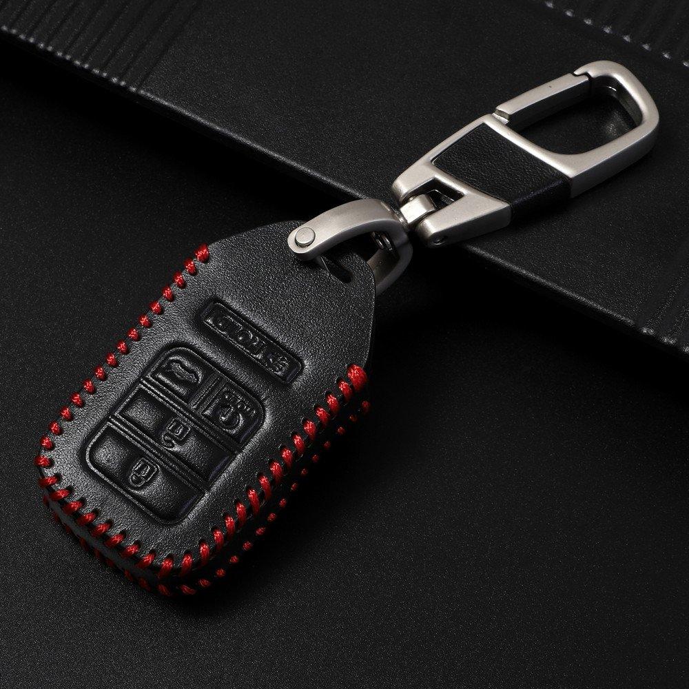Genuine Leather smart case cover for Honda key chain fit Jazz Grace Jade Civic Odyssey Accord XR-V CR-V Vezel City Car-covers Car Stylin holder bag Honda smart key
