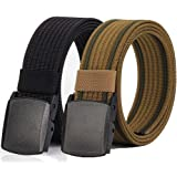 Durable Breathable for Outdoor Duty Military Tactical Belt with YKK Plastic Buckle 53Long1.5Wide Nylon Belts Men