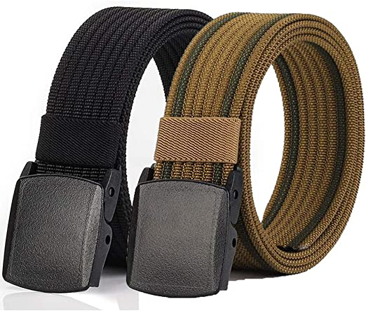 Mens Military Tactical Web Belt Airport Metal Free Hypoallergenic Outdoor Sports Casual Belt