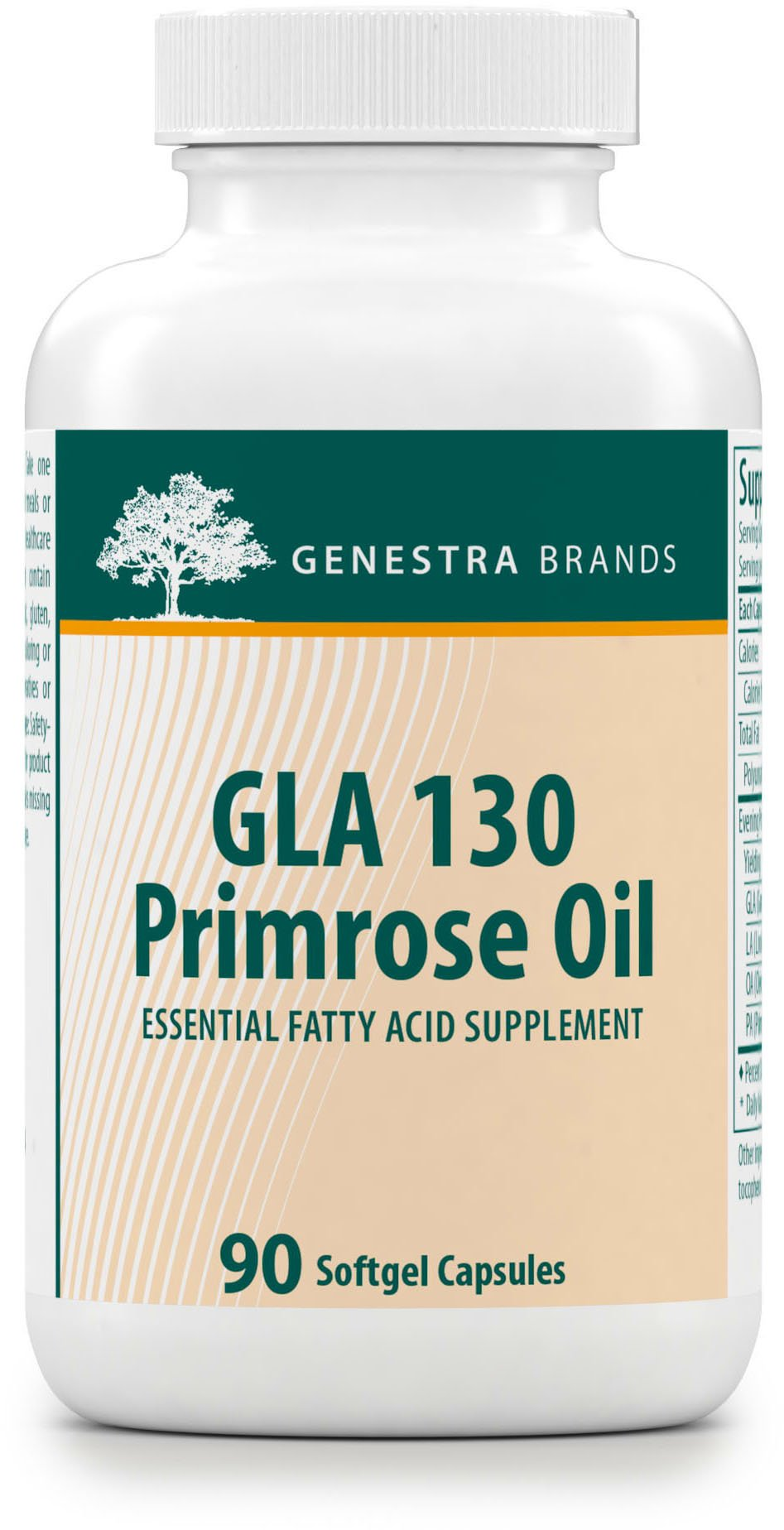 Genestra Brands - GLA 130 Primrose Oil - Essential Fatty Acid Formula - 90 Softgel Capsules