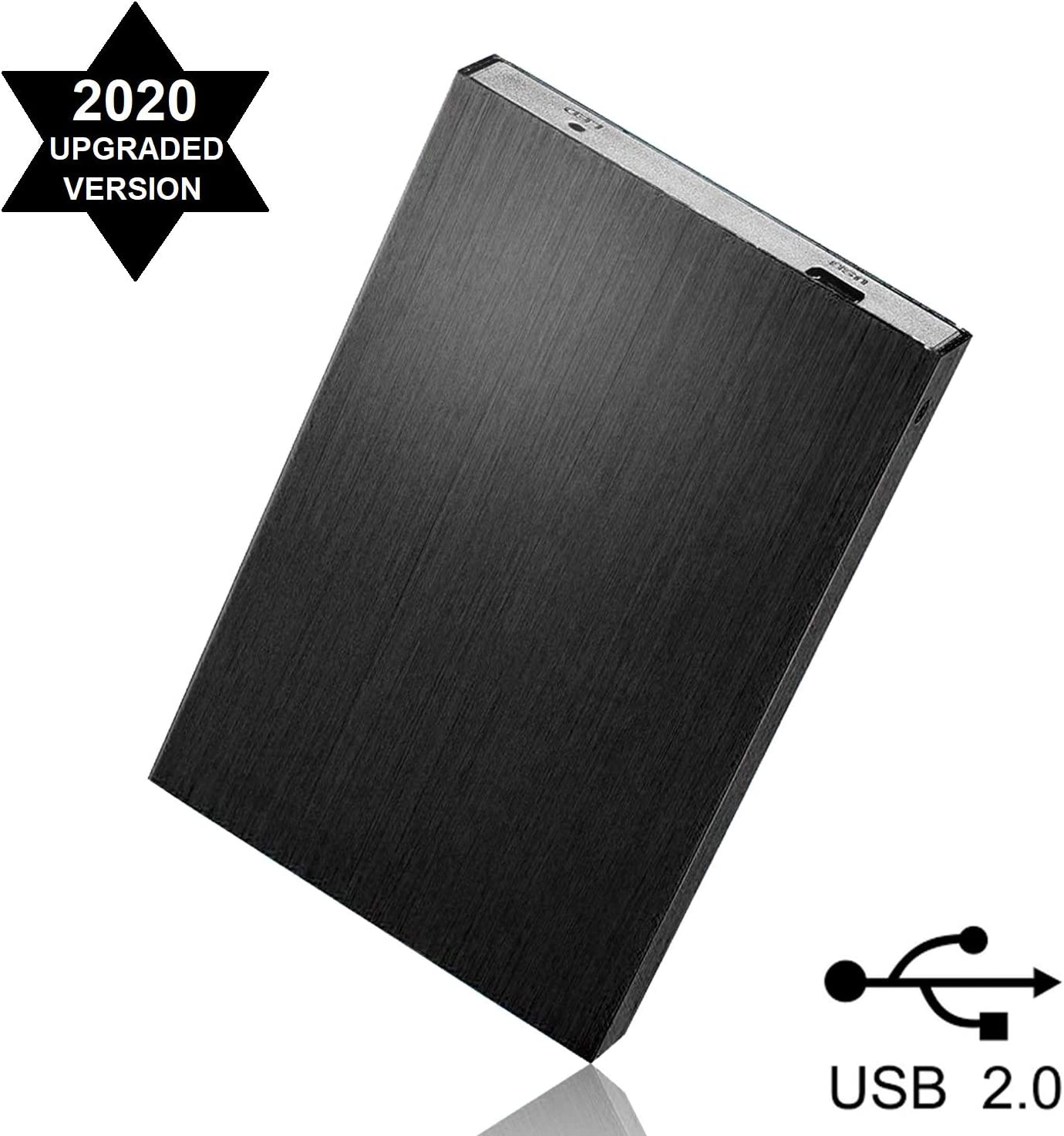 SUHSAI 200GB External Hard Drive 2.5 Inch Portable Slim Storage Expansion HDD USB 2.0 Harddrive for Mac and PC, Laptop and More -Black