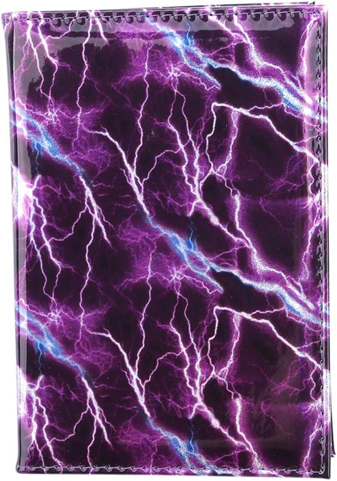 Blau Als Beschreibung YSINFOD Lightning Pattern Printed Passport Holder Creative Passport Cover f/ür Reisedokumente Kreditkarten Stifthalter