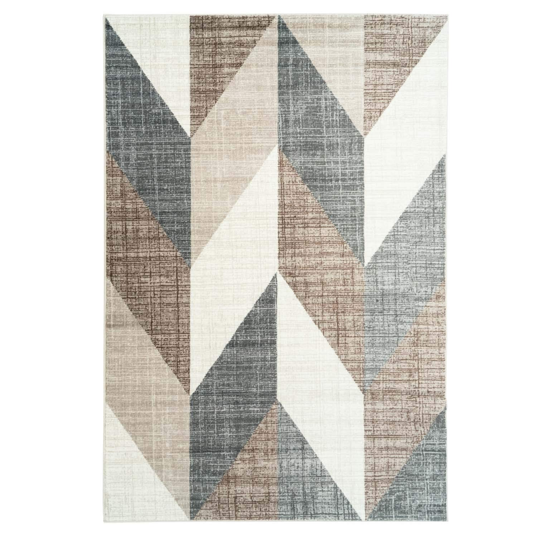 Carpet city Teppich Modern Designer Wohnzimmer Inspiration Way Vintage Smaragd-Muster Beige Braun Größe 160/230 cm