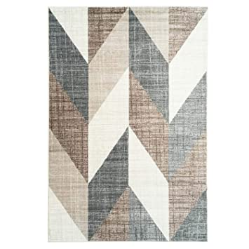 Carpet City Teppich Modern Designer Wohnzimmer Inspiration Way Vintage  Smaragd Muster Beige Braun Größe 120