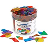 Learning Resources Translucent Geometric Shapes, Early Geometry Skills, Classroom Accessories, Teacher Aids, 408 Pieces…