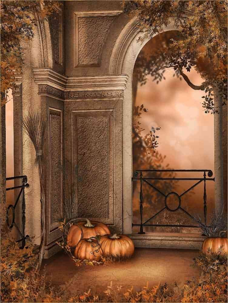 GladsBuy Tombstone 8 x 8 Computer Printed Photography Backdrop Halloween Theme Background DGX-129
