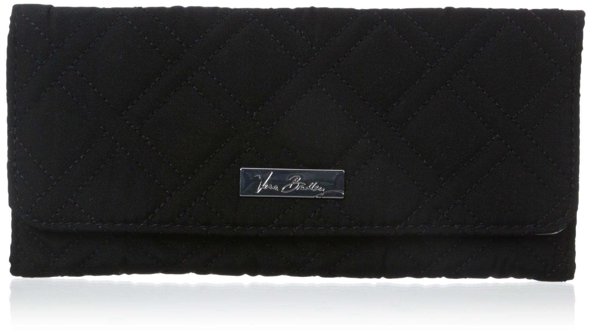 Vera Bradley Wallet 3 Trifold, Classic Black, One Size