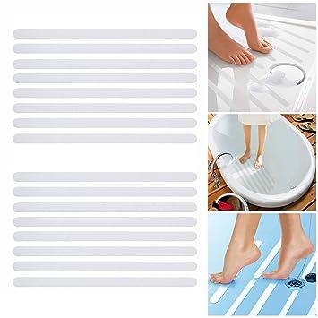 Incutex 16x Anti Rutsch Streifen für Badewanne und Dusche 38 cm lang – 2 cm breit selbstklebend transparent