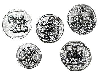 Amazonde Antike Griechische Münzen Versilbertes Metall