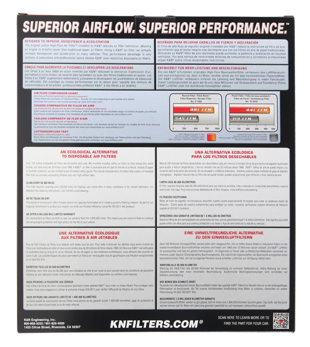 K&N E-1999 High Performance Replacement Air Filter by K&N (Image #3)