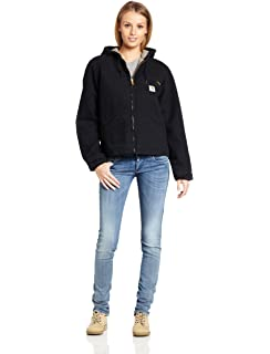 Carhartt Women S Lined Sandstone Active Jacket Wj130 At Amazon