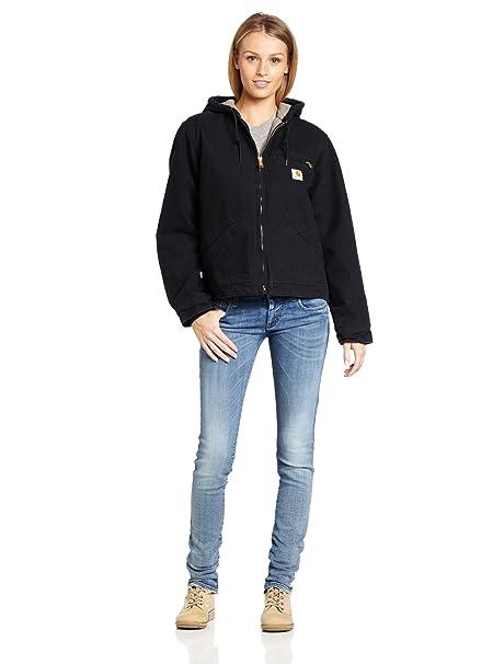 Carhartt Womens Sherpa Lined Sandstone Sierra Jacket (Regular and Plus Sizes)
