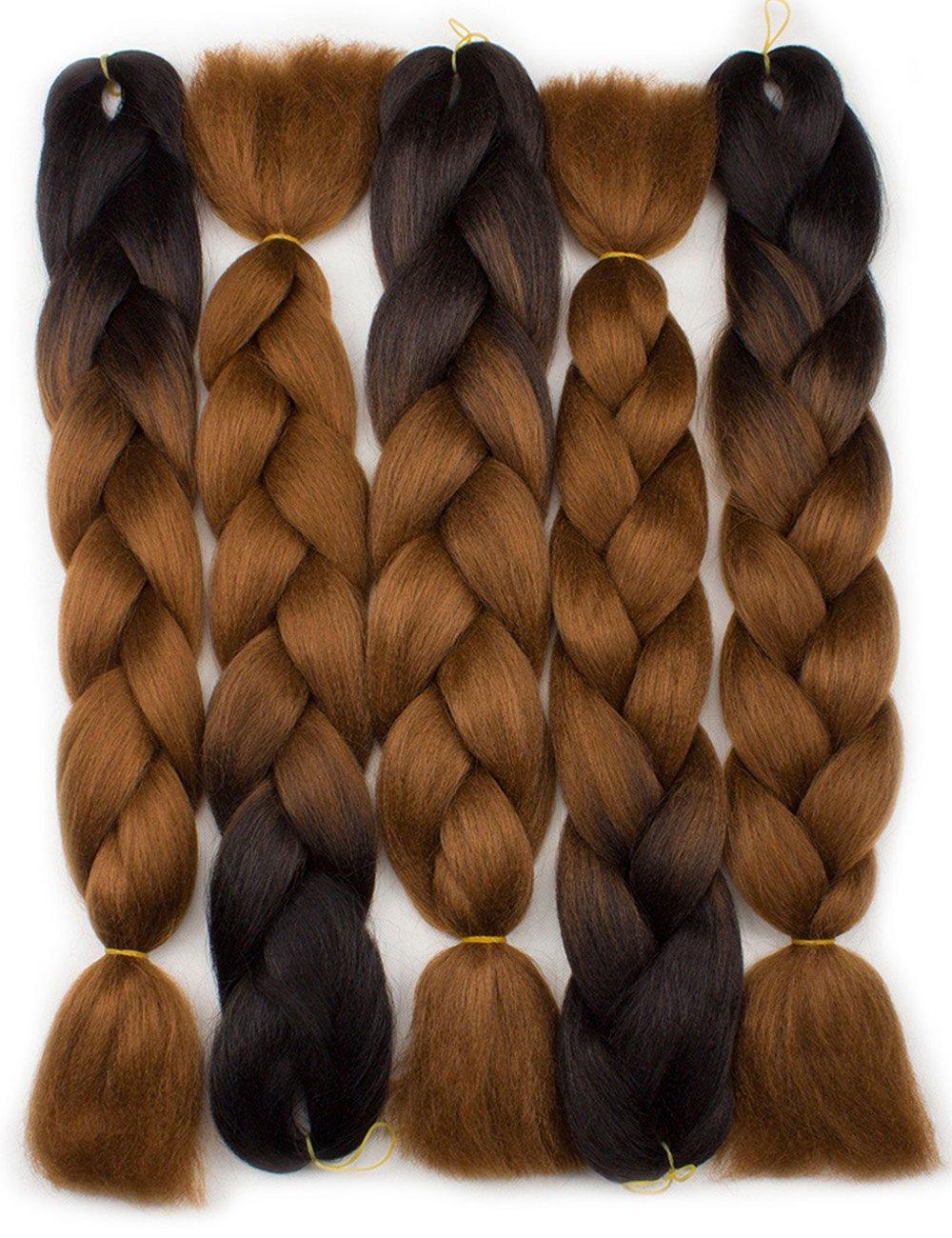 amazoncom besteffie 24inch 5pcslot ombre braiding hair