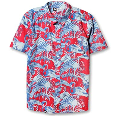 Amazon.com: LRG Mens Toucan Do It Button Up Short-Sleeve Shirt ...
