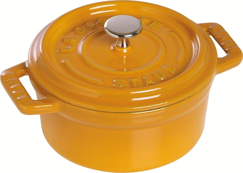 Staub Saffron Enameled Cast Iron Round Cocotte, 7 Quart