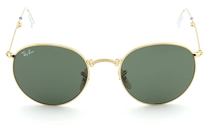 6ecfdc77476 Amazon.com  Ray-Ban RB3532 Round Folding Flash Series Unisex Sunglasses  (Gold Frame Green G-15 Lens 001