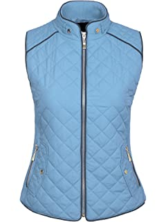 d6552358b3a KOGMO Womens Quilted Fully Lined Lightweight Zip Up Jacket S-3X at ...