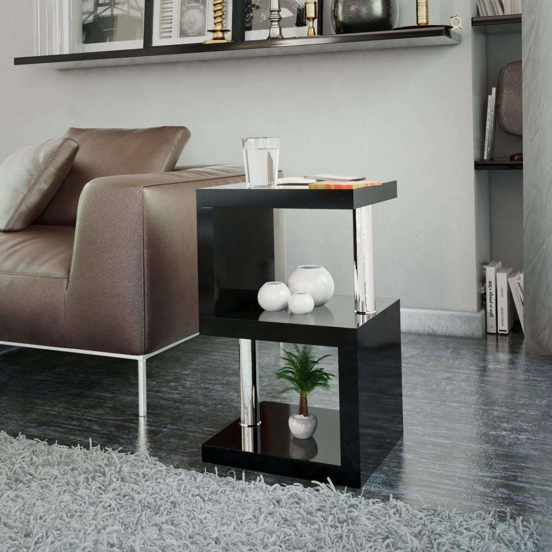 Cosmo Modern Side Table High Gloss S Line Design Furniture Home Modern Amazon De Kuche Haushalt