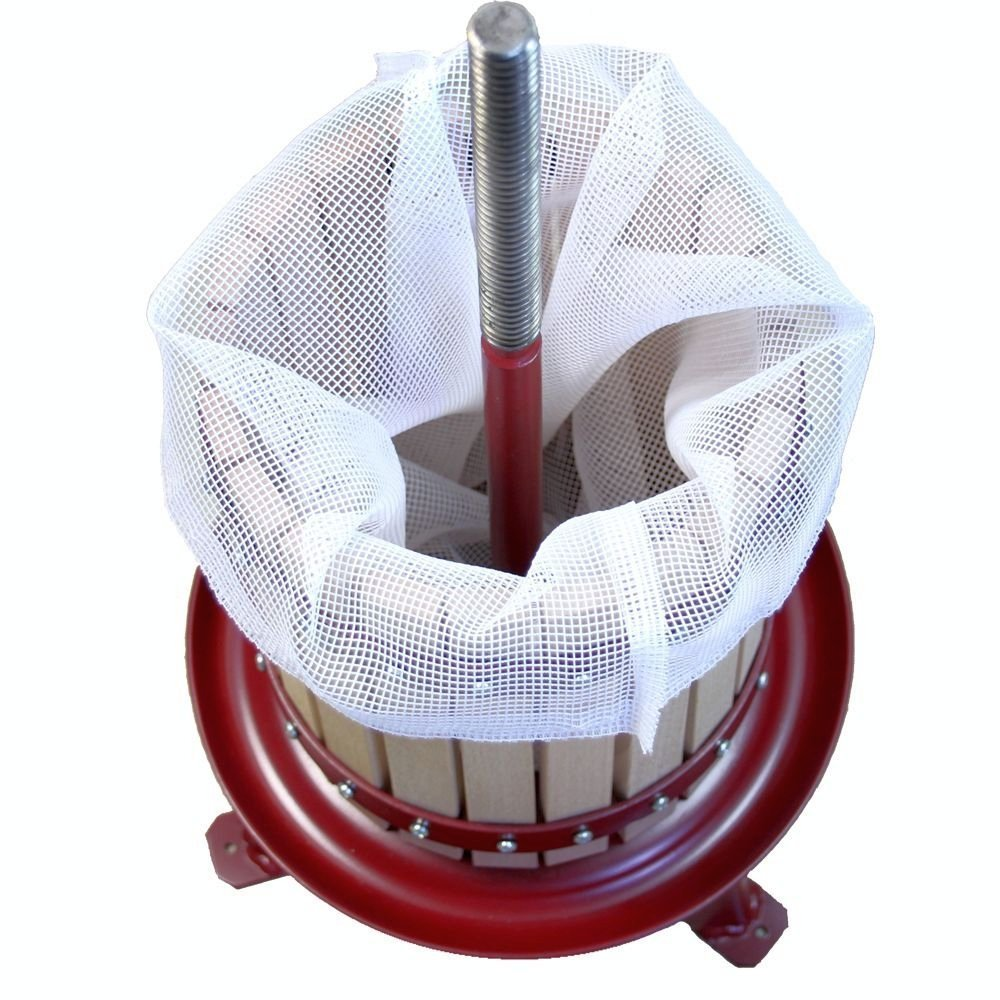 Grillplanet Wine and Fruit Press 6/Litre Including Pressing Cloth