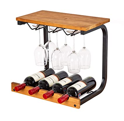 Amazoncom Soduku Wine Rack Wall Mounted Handmade Metal Wood Wine
