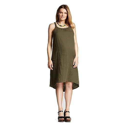 6865f89c2ead2 Maternity Braided Strap Dress Olive (Green) - Liz Lange (Small) at ...