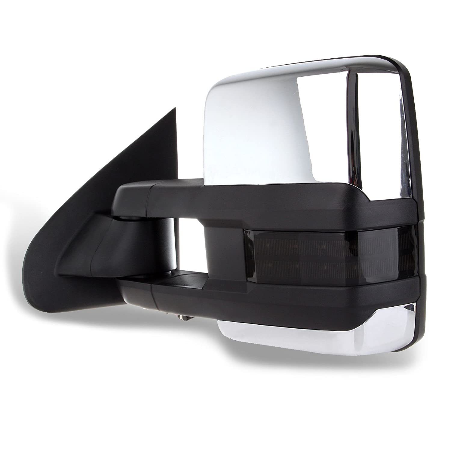INEEDUP Tow Mirrors Rearview Mirrors Fit for 2014-2018 Chevy Silverado GMC Sierra 1500 Chevy Silverado 2500 HD 3500 HD with Left Right Side Power Operation Heated with Turn Signal Light