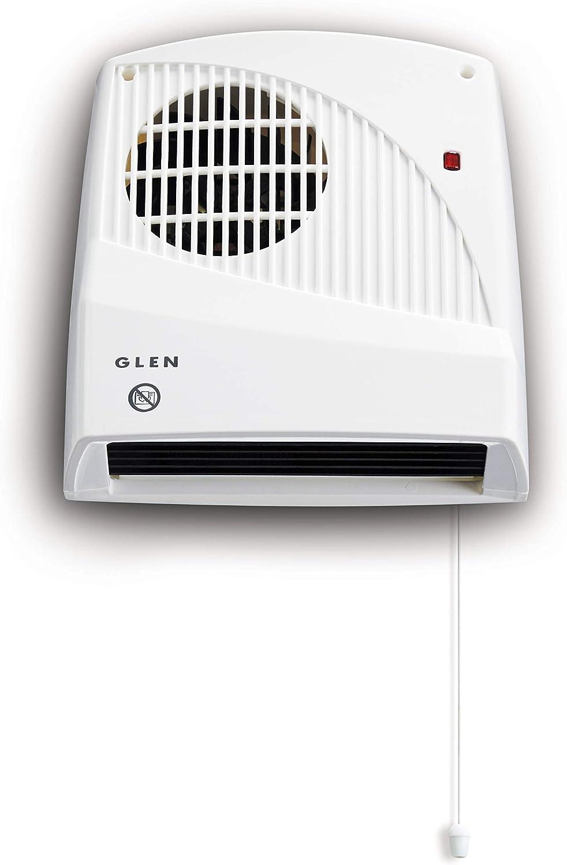 GLEN 2KW DOWNFLOW Fan Heater with