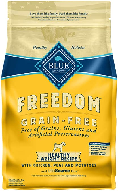 Blue Buffalo Freedom Grain Free Recipe For Dog Healthy Weight Chicken 4 Lb