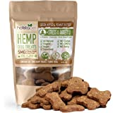 HolistaPet Hemp Dog Treats - Stress & Anxiety Relief - 30 Crunchy Treats - 150mg - Made in USA - Calming Hemp Oil Treats for