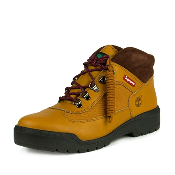 promo code 41b53 3939e Supreme x Timberland Field Boots - Yellow Smooth  Amazon.co.uk  Shoes   Bags