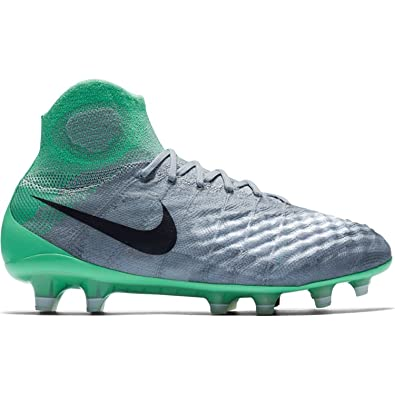 newest ee2ab 2e863 Nike Women s Magista Obra II FG Wolf Grey Purple Dynasty Electric Green  Soccer Shoes