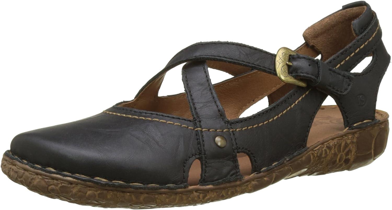 Josef Seibel Rosalie 13 Womens Leather Black Cross Strap Sandals UK Size 3-8