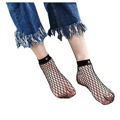 Women Fishnet Socks Inkach Stylish Girls Summer Soft Lace Fishnet Mesh Ankle Short Socks Net