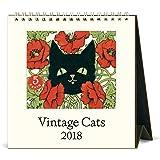 Cavallini Papers & Co Vintage Cats 2018 Desk Calendar