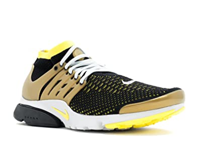 sports shoes 2afb6 90a32 Nike Air Presto Flyknit Ultra Men s Shoes Black Yellow Streak Metallic  Gold Neutral