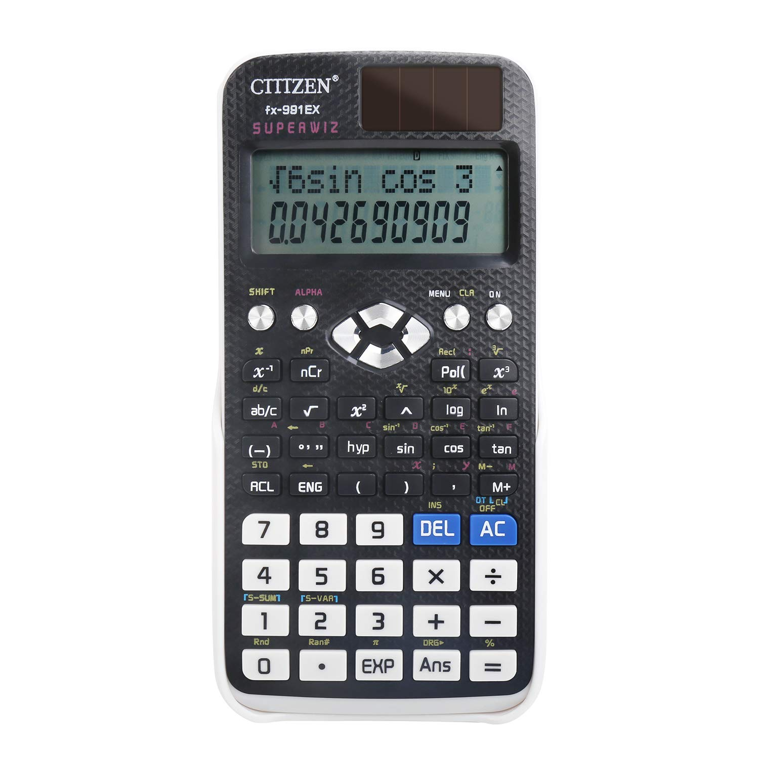DricRoda Scientific Calculator, 240 Functions Calculator Engineering Calculator High School Calculator with Solar Power & 2-Line Display for College, Office, Business by DricRoda